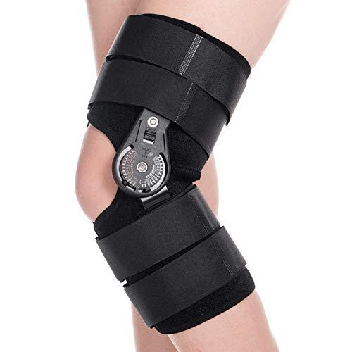 Ortesis de rodilla con bisagra con mandril, Ortesis de rodilla ajustable ajustable proveedores para lesiones deportivas y Protección contra la articulación de la rodilla Brace fijo Hombre Mujer(METRO) ⭐