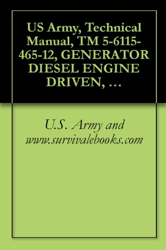 US Army, Technical Manual, TM 5-6115-465-12, GENERATOR DIESEL ENGINE DRIVEN, TACTICAL SKID MTD, 30 KW, 3 PHASE, 4 WIRE 120/208 AND 240/416 V, (DOD MODEL ... (MODEL MEP-00 (English Edition)