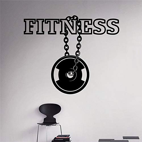 58 x 48 cm l Aufkleber Workout Gym Vinyl Aufkleber Sport Gesunder Lebensstil Home Interior Wall Art Murals Housewares
