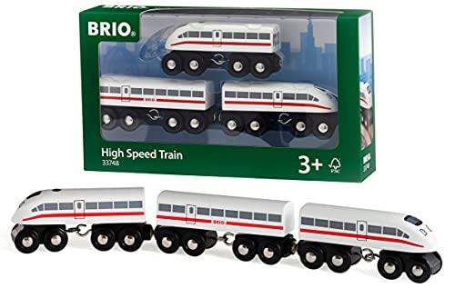BRIO Bahn 33748 - Schnellzug mit Sound, Holz,3teilig
