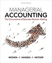 [1337115770] [9781337115773] Managerial Accounting: The Cornerstone of Business Decision-Making 7th Edition - Hardcover