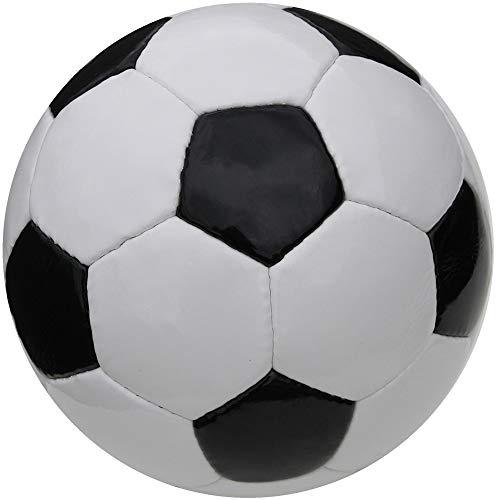 Boje Sport Fußball klassisch - Farbe: schwarz/weiß, Größe 4 - traditionell handgenäht - ohne Werbeaufdruck