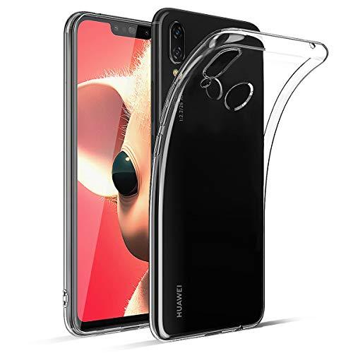 BENNALD Hülle für Huawei P Smart Plus Hülle, Clear Soft Flex Silikon Durchsichtige Schutzhülle Hülle Cover-Slim TPU Bumper Tasche Passexakt Handyhülle für Huawei P Smart+ 6,3 Zoll -Transparent, Clear
