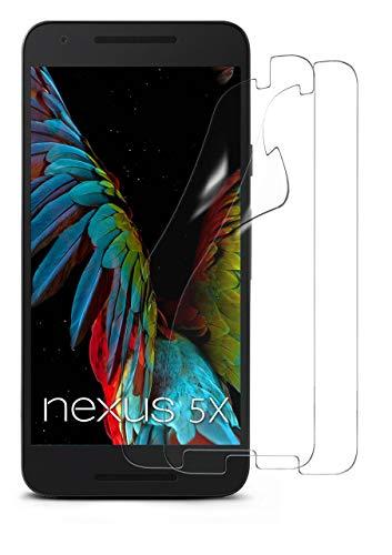 MoEx® Kristallklare HD Schutzfolie passend für LG Google Nexus 5X   Premium Bildschirmfolie - Kratzfest & Fast unsichtbar - Ultra Klar