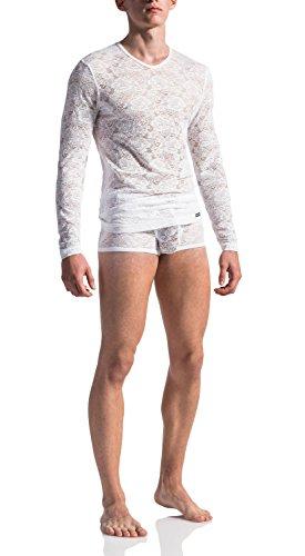 MANSTORE M566 T-shirt manches longues – Collection limitée. - Blanc - Large