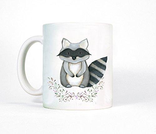 Tasse Becher Kaffeetasse Waschbär Tierbaby