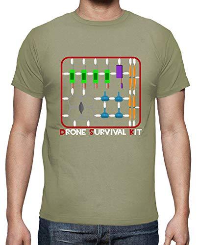 latostadora - Camiseta Kit de Supervivencia para Hombre Caqui S