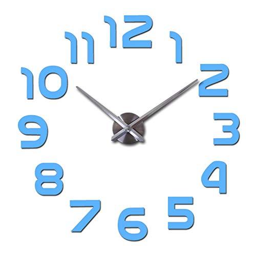 LKOER Reloj Duradero Reloj de la Sala de Estar Cuarzo Acrílico Espejo Efecto Decoración del hogar Etiquetas de Pared Modernas Decoración del hogar (Color: Rosa, sábana Tamaño: 27 Pulgadas) jinyang