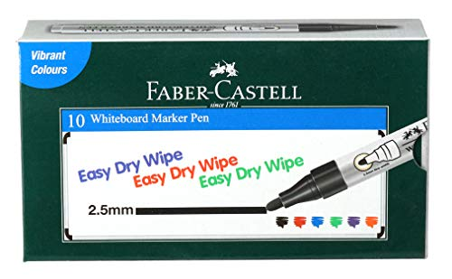Faber-Castell Whiteboard Marker - Pack of 10 (Black)