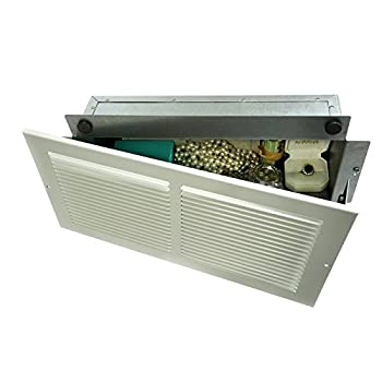 Professional Grade Products WS1 Wall Safe Hidden as Air Vent in Plain Sight Secures Jewelry Valuables Cash