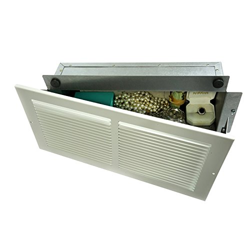 Professional Grade Products WS1 Wall Safe, Hidden as Air Vent in Plain Sight, Secures Jewelry, Valuables, Cash