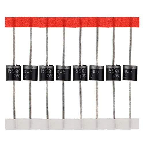 BOJACK Schottky Diode 15SQ045 (15A 45V) axial 15SQ045 (15 Ampere 45 Volt) für Solarpanel Parallel Reflow-Schutzdioden (Packung mit 20 Stück)
