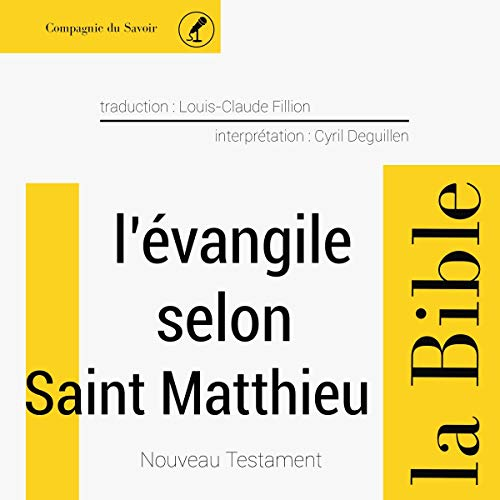 Évangile selon Saint Matthieu cover art