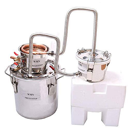 New 3 Pots DIY Home Distiller Alcohol Moonshine Ethanol Still Spirits Boiler Wine Water Essential Oils Making Brewing Kit (Copper, 30 Litres / 8 Gallon)