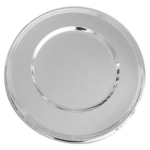 SILBERKANNE Platzteller 33 cm mit Perlrand Silber Plated versilbert in Premium Verarbeitung