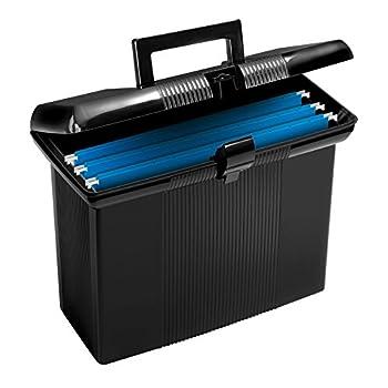 Pendaflex Portable File Box Black 11  H x 14  W x 6-1/2  D  41732
