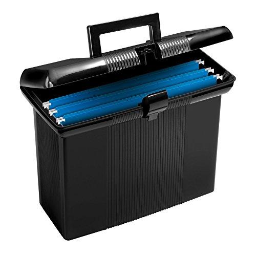 Pendaflex Portable File Box, Black, 11' H x 14' W x 6-1/2' D (41732)