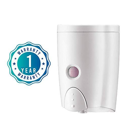 HOMEPLUZ White Seifenspender für die Wandmontage, Wandseifenspender, Universalspender für Badezimmer (20oz/600ml)