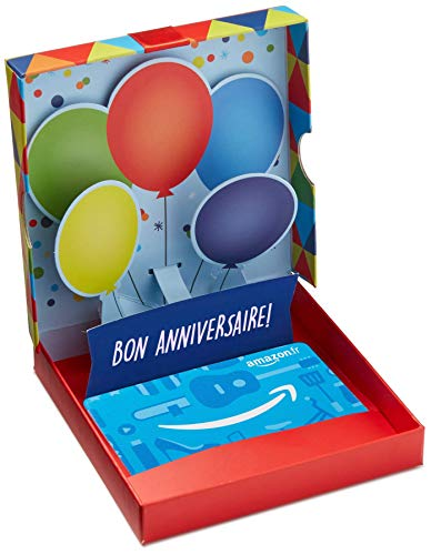 Carte cadeau Amazon.fr - Dans un coffret Ballons danniversaire