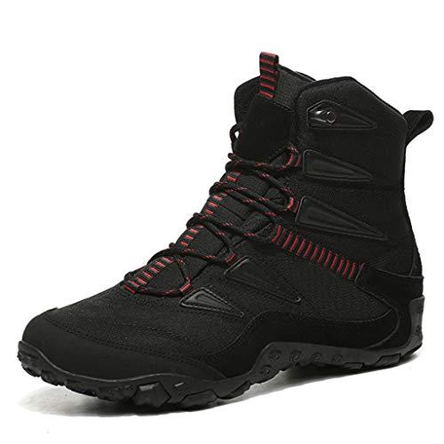 XIALIUXIA Antideslizante Invierno Botines, Cálido Forro Aire Libre Boots Trekking Aire Libre Muje Zapatos,B,36