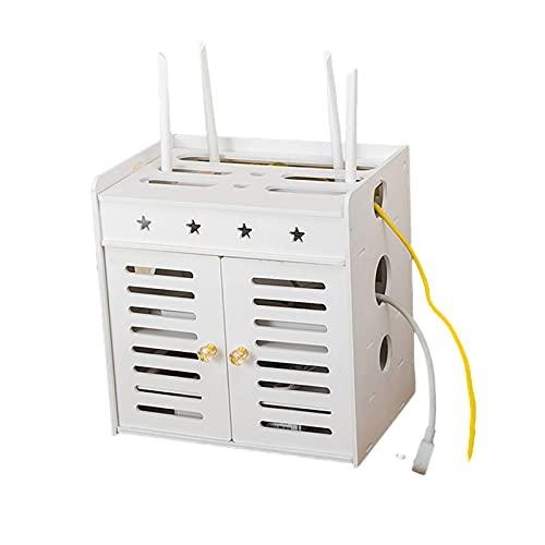 SFSGH Consola de TV con Estante Flotante de Montaje en Pared para componentes de TV, Reproductor de DVD, Accesorios de fácil instalación, Soporte de enrutador