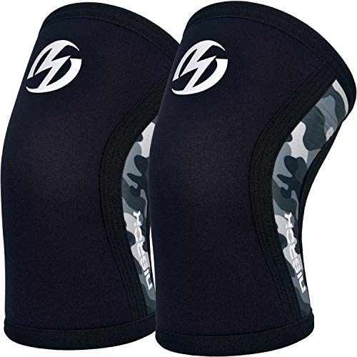 Elbow Sleeves (Pair),Support for Crossfit,Weightlifting,Powerlifting,Basketball and Tennis,5mm Neoprene Compression Brace for Both Women and Men(Large)
