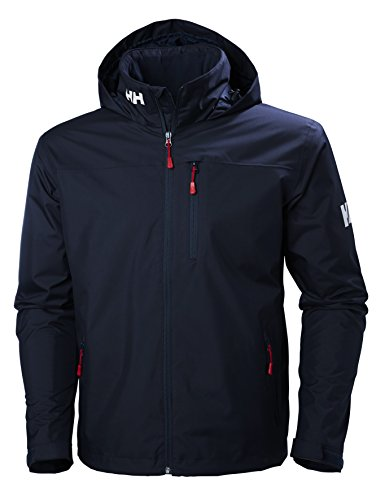 Helly Hansen Herren CREW HOODED MIDLAYER JACKET – Blau (Navy), Large
