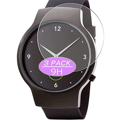 VacFun 3 Piezas Vidrio Templado Protector de Pantalla, compatible con Runtastic Moment smartwatch Smart Watch, 9H Cristal Screen Protector Protectora Reloj Inteligente