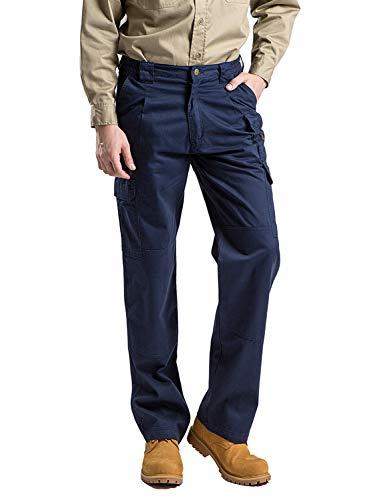 Titicaca Men's FR Field Pants Flame Resistant Lightweight 7.5oz 100% Cotton Navy Elastic Waist Pants