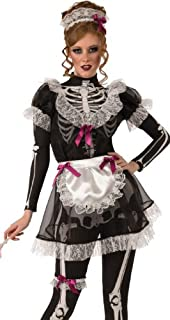 Sexy Zombie Skeleton French Maid Halloween Costume