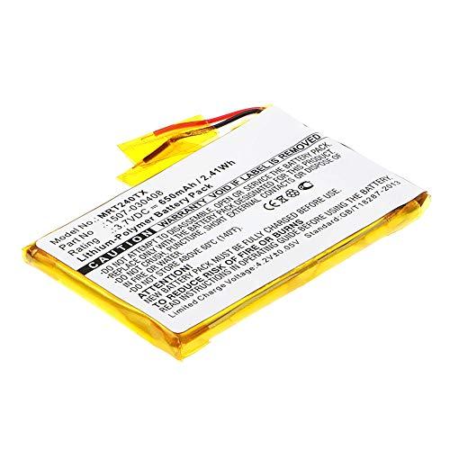 subtel® Qualitäts Akku kompatibel mit Rii i24T Mini, RT-MWK24T - 1507-030408 (650mAh) Ersatzakku Batterie