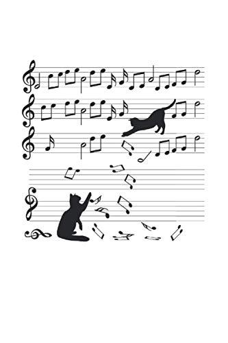 Cuaderno: Gatos Regalo De La Música Instrumento De Juguete 120 Páginas, 6X9 (Ca. A5), Puntos