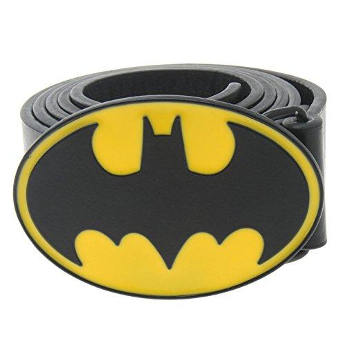 DC Comics Unisex Cinturón Estampado Negro/Amarillo L