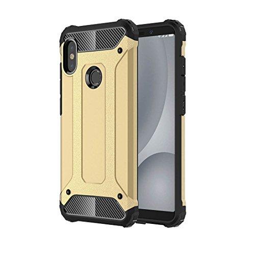 SANHENGMIAO COVER Für Xiaomi Handy Für Xiaomi Redmi Note 5 Pro Gebrochener TPU + PC-Kombinationsetui für Endkörper (Farbe : Gold)