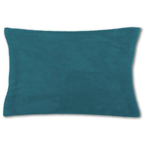 Bestlivings Housse de coussin douillette 30 x 50 cm, au choix : bleu pétrole – bleu océan avec rembourrage
