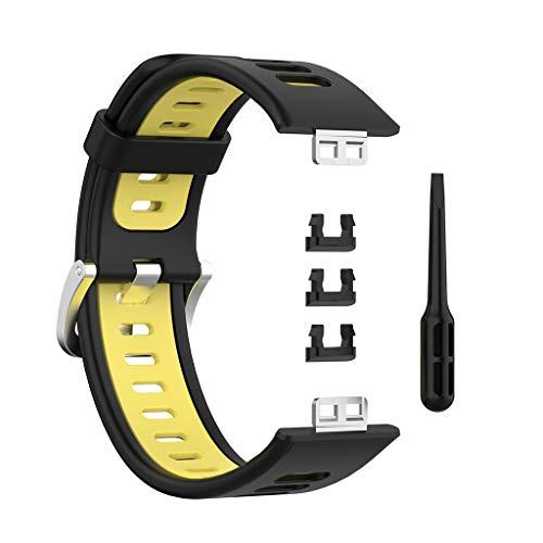 Wenyounge Correa de Silicona de Dos Tonos de Repuesto para Reloj -Huawei Watch Fit