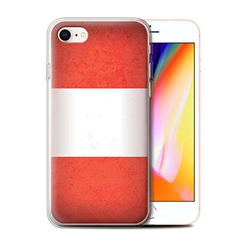 Telefoonhoesje voor Apple iPhone SE 2020 Americas Vlag Peru/Peruaans Ontwerp Transparant Helder Ultra Zachte Flexi Siliconen Gel/TPU Bumper Cover