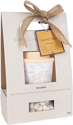 Modern Gourmet Foods - Babyccino Reisetasse Geschenkset - Mit wiederverwendbarer Reisetasse mit Kakao-Mix und Marshmallows