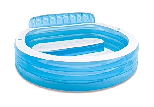 Intex Swim Center Inflatable Family Lounge Pool, 90' X 86' X 31', for Ages 3+