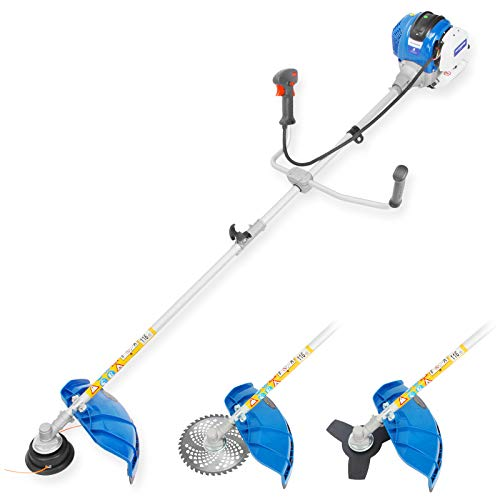 HUYOSEN 38.9cc Weed Eater String Gasoline Powered Brush Cutter Straight Shaft Weed Whacker Gas Trimmers for Grass 4-Cycle Weed Trimmer Gas Powered String Trimmer