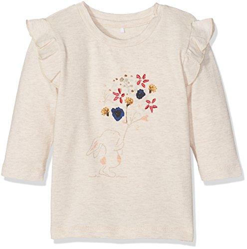 Name It Nitfeanja Ls Top NB T- Shirt À Manches Longues, Beige (Peyote) 68 Bébé Fille