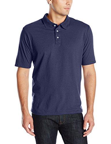 Hanes mens X-Temp Performance Polo Shirt,Navy,XX-Large Cotton Business Men Casual Shirt