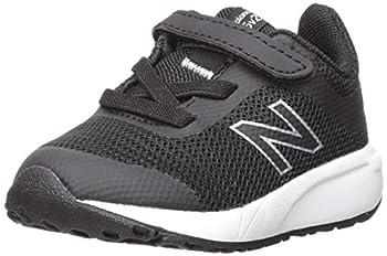 New Balance Kids  455v2 Hook and Loop Running Shoe Black/White 9 M US Toddler
