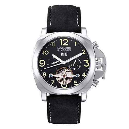 Smartwatches,Automatische Mechanische Uhren Echte Außenhandel Explosion Modelle Automatische Mechanische Uhren Leuchtende Business - Männer Auf Schwarz - Grün - Weiße Hülle Der Digitalen