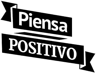 JS Artworks Piensa Positivo Spanish Think Postively Vinyl Wall Art Decal Sticker