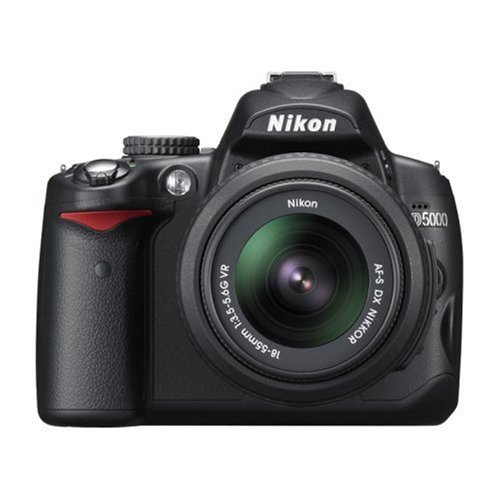 Nikon D5000 - Cámara Réflex Digital 12.3 MP (Objetivo AF-S DX VR 18-55mm f/3.5-5.6G)...
