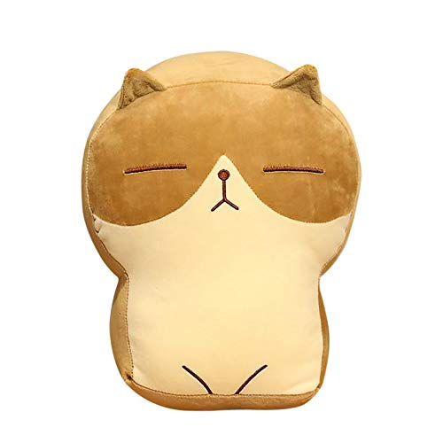 GBSELL Cat Plush Toy Pillow Stuffed Animal Cat Soft Toy Bread Cat Doll Sleeping Pillow, Cuddly Soft Cartoon Animal Plush Toy Dolls, Great Gift for Boys Girls Party Birthday (A)