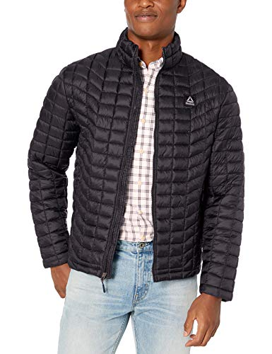 Reebok Men's Outerwear Jacket, Athletic Glacier Shield Black, M