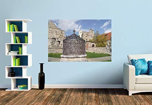 Premium Foto-Tapete Brunnen auf Schloss Hellenstein (versch. Größen) (Size S | 186 x 124 cm) Design-Tapete, Wand-Tapete, Wand-Dekoration, Photo-Tapete, Markenqualität von ERFURT