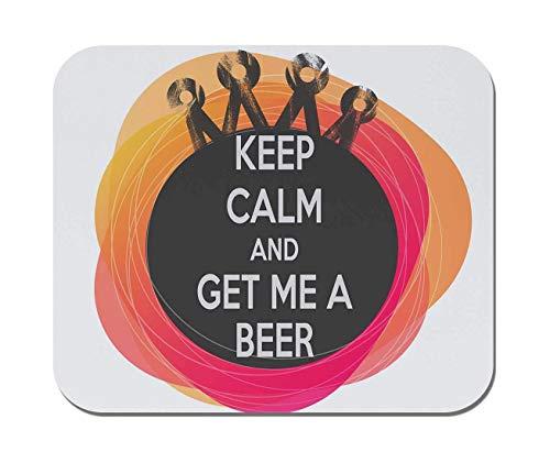Makoroni - bleib ruhig und hol mir ein Bier - rutschfestes Gummi - Computer, Gaming, Büromousepad